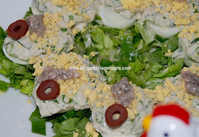 Huevos rellenos con sardinas