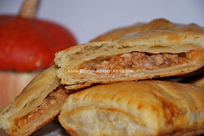 Empanadas de hojaldre con pollo