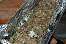 Tapar con carne el drob