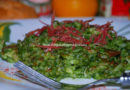 Arroz verde con bacon