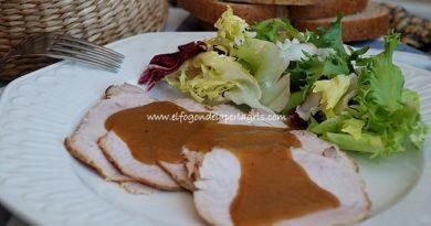 Carne mechada con salsa de setas