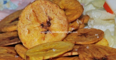 Chips de plátano macho