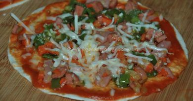 Pizza con base de fajitas